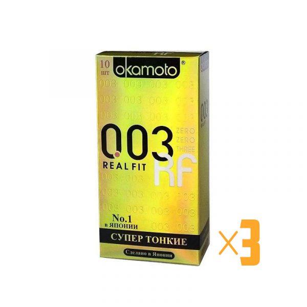 Презервативы Okamoto 003 RealFit №10 3 шт.
