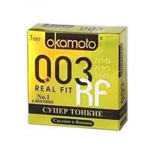 Презервативы Okamoto 003 RealFit 3 шт.
